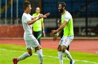 محمد عبدالغني يسجل هدف التعادل للزمالك في مرمى المصري