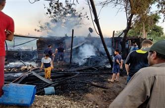 السيطرة على حريق هائل بقرية هورين بالمنوفية   صور