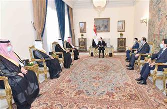 تفاصيل استقبال الرئيس السيسي لوزير الرياضة ورئيس اللجنة الأولمبية السعودية