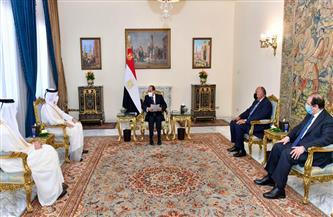 الرئيس السيسي يعرب عن ترحيب مصر بالتطورات الأخيرة في مسار العلاقات المصرية القطرية