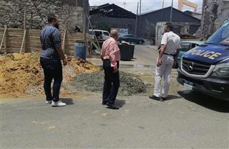 إيقاف أعمال بناء مخالف بعقار بشارع الشيخ طموم غرب الإسكندرية   صور