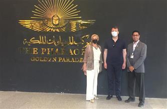 الوفد الحكومي الصربي يزور المتحف القومي للحضارة المصرية بالفسطاط | صور