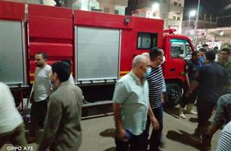 """السيطرة على حريق نشب بكابل كهرباء في الشارع الجديد بـ""""الباجور""""  صور"""