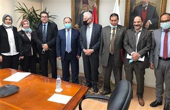 فودة ومعيط يبحثان الدعم المالي لجنوب سيناء وإنشاء مجمع الضرائب والجمارك بشرم الشيخ | صور