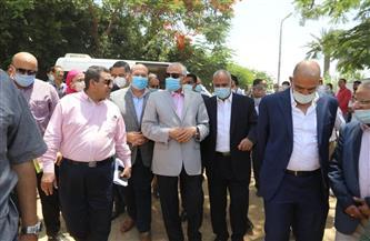 محافظ الجيزة يطلق إشارة بدء التشغيل التجريبي لمحطة رفع الصرف الصحي بقرية الشيخ عتمان بالحوامدية | صور