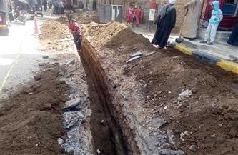 استئناف أعمال الغاز الطبيعى ومد وتدعيم خطوط مياه الشرب لعدد من قرى زفتى بالغربية