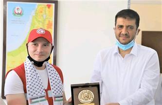 وكيل «الصحة الفلسطينية» يستقبل مدير الهلال الأحمر المصرى  صور