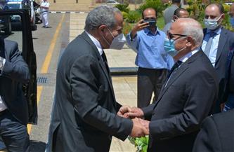 الغضبان يستقبل وزير التموين لافتتاح مجمع الخدمات الحكومية ببورسعيد