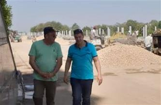 رئيس مركز أشمون يتفقد أعمال إنشاءات الحديقة النموذجية بأبو رقبة | صور