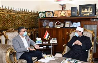 وزير الأوقاف ورئيس اتحاد الإذاعات الإسلامية يناقشان التعاون المشترك   صور