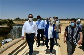 وزيرة البيئة ومحافظ الفيوم يتفقدان أعمال تطوير شلالات وادي الريان   صور