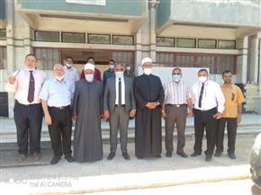 نائب رئيس جامعة الأزهر للوجه البحري يتفقد كليات الجامعة بالمنصورة |صور