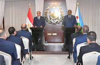 نص كلمة الرئيس السيسي خلال مؤتمر مشترك مع نظيره الجيبوتي
