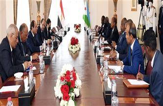 الرئيس السيسي ونظيره الجيبوتي يؤكدان أهمية التوصل إلى اتفاق قانوني عادل ومتوازن حول ملء وتشغيل سد النهضة