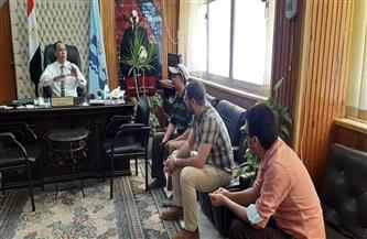 لجنة من محافظة كفرالشيخ لمعاينة المركز التكنولوجي الجديد بمطوبس | صور