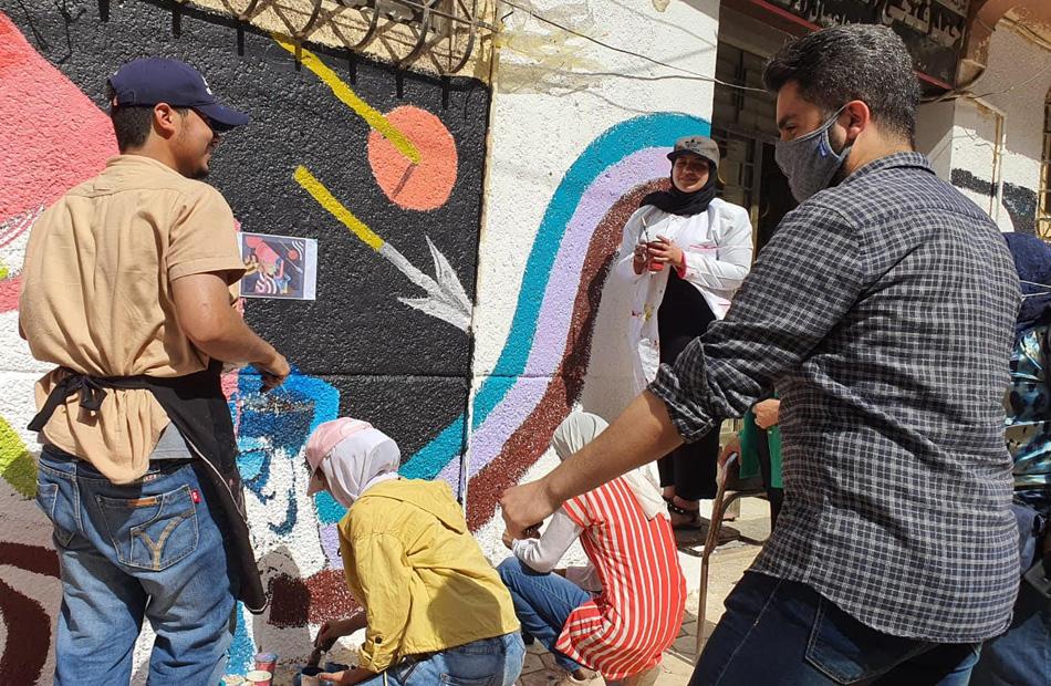 محافظ كفر الشيخ يشيد بمشاركة طلاب كلية التربية النوعية في تجميل شارع   إبراهيم المغازى |صور