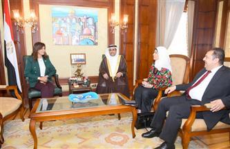 وزيرة الهجرة ورئيس البرلمان العربي يتفقان على إقامة مؤتمر ثقافي تحت مظلة مصرية للحفاظ على الهوية العربية| صور
