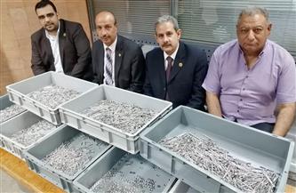 إحباط تهريب كمية من الأدوات والمستلزمات الطبية برسوم جمركية بمليون و417 ألف جنيه في مطار الأقصر صور