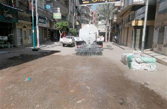 فض وإخلاء سوق الجمعة في شربين