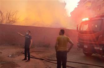 «الحماية المدنية» تسيطر على حريق بأرض فضاء في طلخا   صور