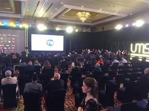 فيلم وثائقي يعرض إنجازات المتحدة في بداية المؤتمر الصحفي | صور