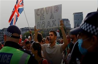 مئات الأشخاص يتظاهرون بوسط لندن للاحتجاج ضد تطعيمات كورونا