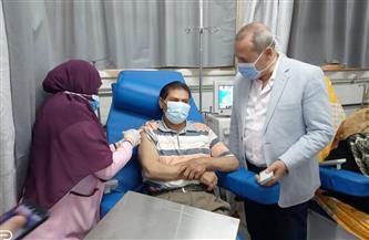 بدء تطعيم مرضى الغسيل الكلوي بوحدات الكلى بلقاح كورونا في الدقهلية | صور