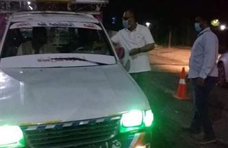 ضبط 15 مواطنا بدون كمامة بمدينة إسنا جنوب الأقصر  صور