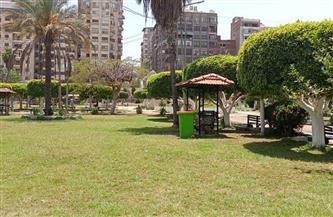 إغلاق الحدائق العامة والمتنزهات في المنصورة | صور