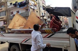 رفع 36 حالة إشغال طريق في حملة بشوارع شرق الإسكندرية