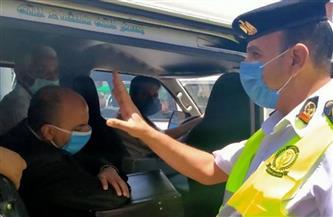 حملة لمتابعة التزام الركاب بارتداء الكمامة في وسائل النقل العام والجماعي في شبرا