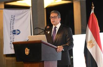وزير السياحة والآثار متحدثا رئيسيا باجتماع الجمعية العمومية لغرفة التجارة الأمريكية