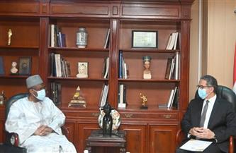 وزير السياحة والآثار يلتقي بسفير غينيا بالقاهرة