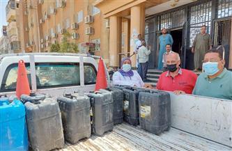 ضبط 400 لتر مواد بترولية في حملة على الأسواق بمدينة إسنا في الأقصر | صور