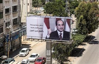 صور الرئيس السيسي تنتشر في قطاع غزة