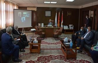 رئيس جامعة بورسعيد يستقبل فريق المراجعة من «القومية لضمان جودة التعليم والاعتماد» بكلية الهندسة  صور