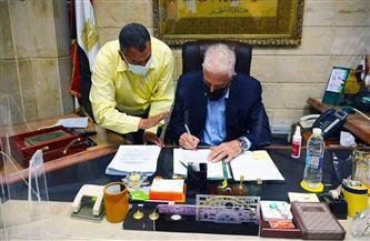 محافظ جنوب سيناء يصدق على 45 طلب تصالح وتقنين أراض لمواطني أبورديس  صور