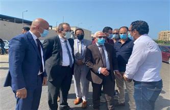 تطوير المنطقة الموازية لسوق الأسماك الجديد في بورسعيد   صور