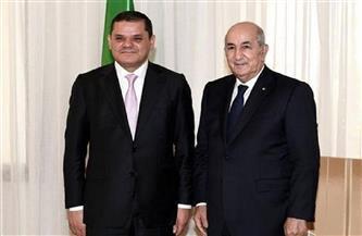 الرئيس الجزائري يبحث مع رئيس الحكومة الليبية التعاون المشترك بين البلدين