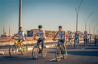 «ألسن جامعة سلمان» تدشن مبادرة لاستخدام الدراجات الهوائية في التنقل.. والمحافظ يشيد بالمبادرة