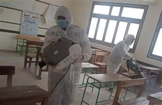 رش وتعقيم مدارس «القصير» استعدادا لامتحانات الشهادة الإعدادية