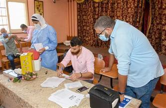 مواصلة تطعيم المشاركين في أعمال امتحانات الثانوية والدبلومات والإعدادية في بورسعيد بلقاح كورونا| صور