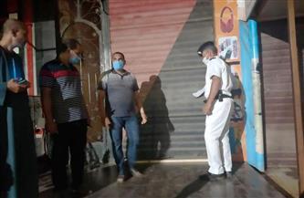 تحرير 11 محضر مخالفة لمواعيد الغلق وتشميع مقهى في دسوق