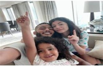 """محمد رمضان برفقة بناته """"حنين وكنز"""" في أحدث ظهور"""
