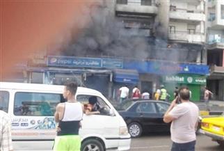 اندلاع حريق مروع بكافيتريا على كورنيش الإسكندرية | صور