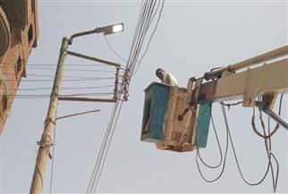 تركيب كشافات وصيانة أعمدة الإنارة العامة في سمنود بالغربية