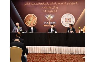 وزير الرياضة يشهد المؤتمر الصحفي لكأس العالم للجمباز الفني
