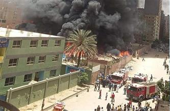 حريق هائل يلتهم مخزنا في الهرم.. و10 سيارات إطفاء تحاول السيطرة عليه
