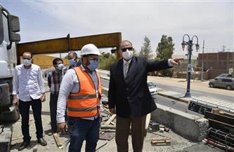 محافظ أسيوط يتفقد أعمال تنفيذ مشروع كوبري المدخل الشمالي العلوي بمنقباد | صور