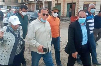 """نائب محافظ الإسكندرية يقود حملة لاستعادة المظهر الحضاري لمنطقة الحلقات بـ""""أبو قير""""   صور"""